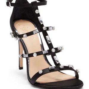 Jewel Badgley Mischka Cage Sandals New